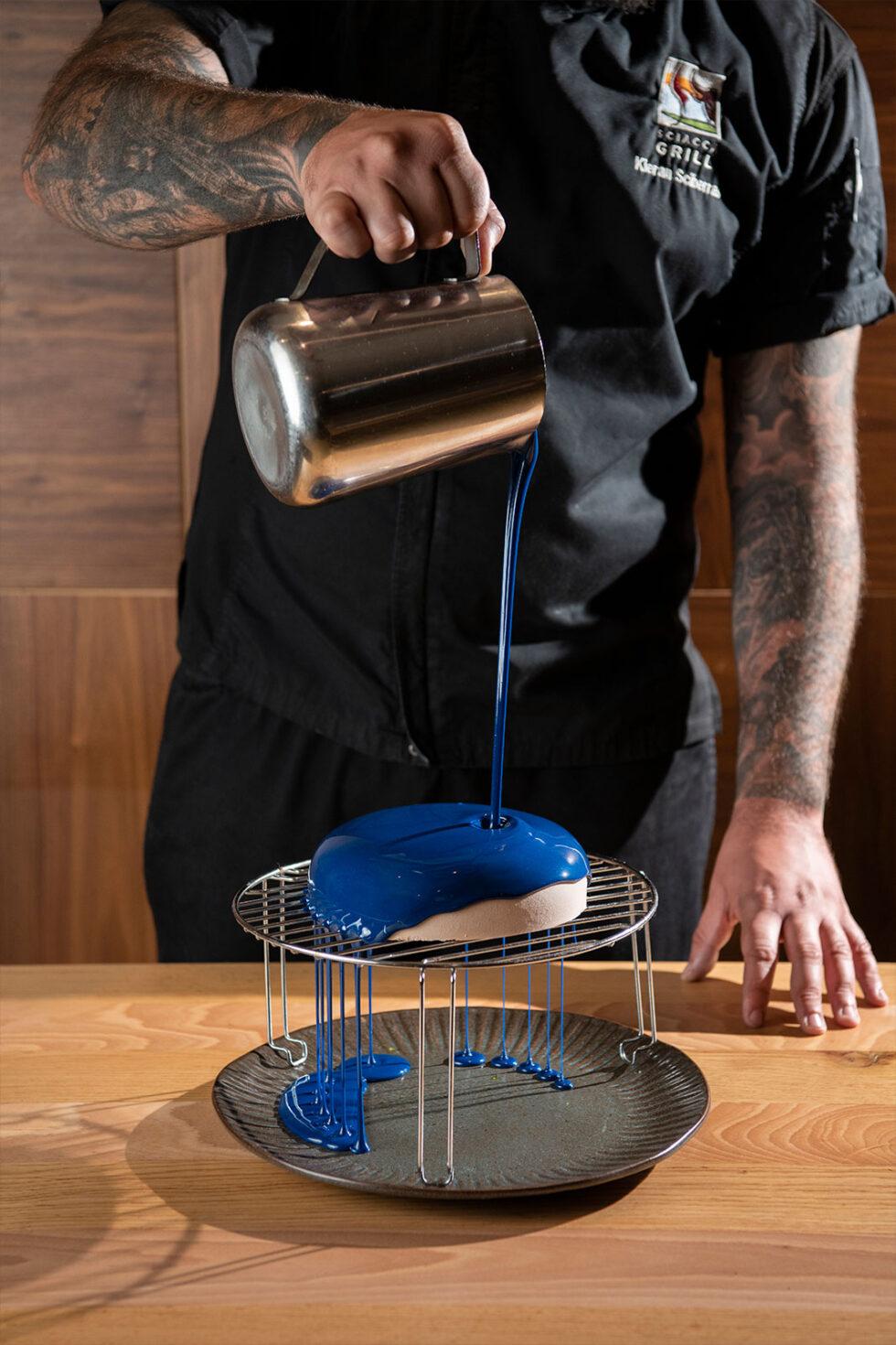 Chef making dessert