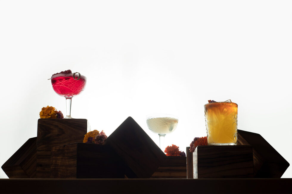 Cocktails white background