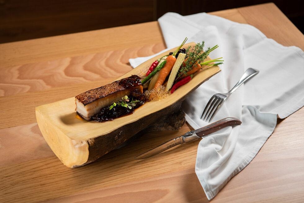 Food in a log