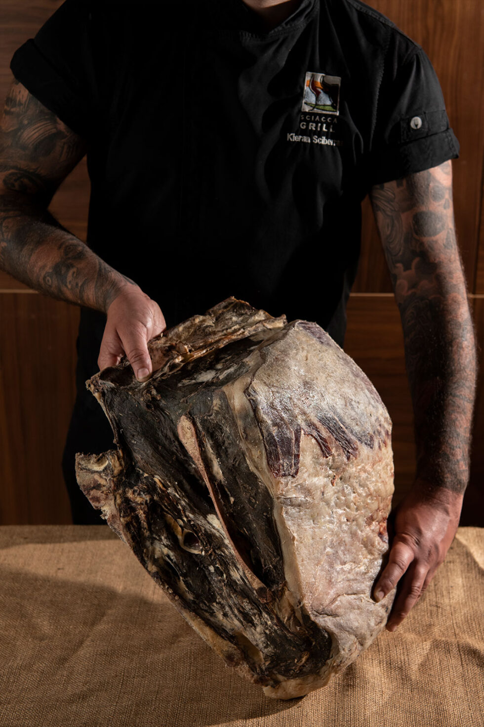 aged meat and chef