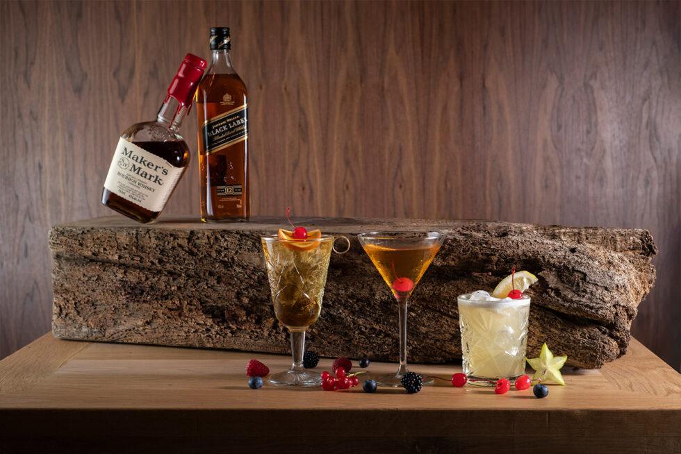 drinks on the log