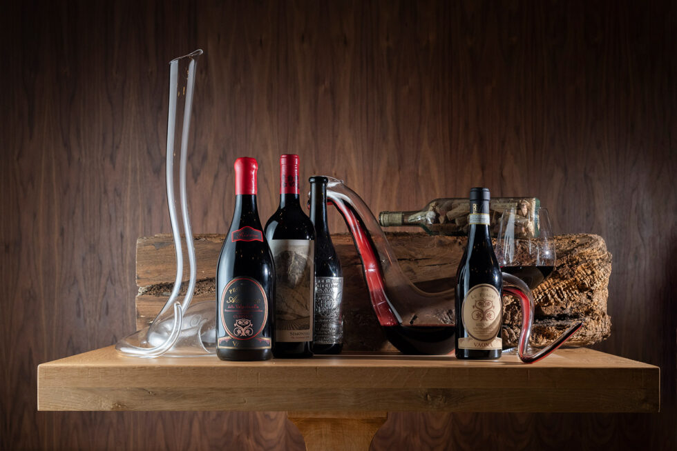 wines on the table